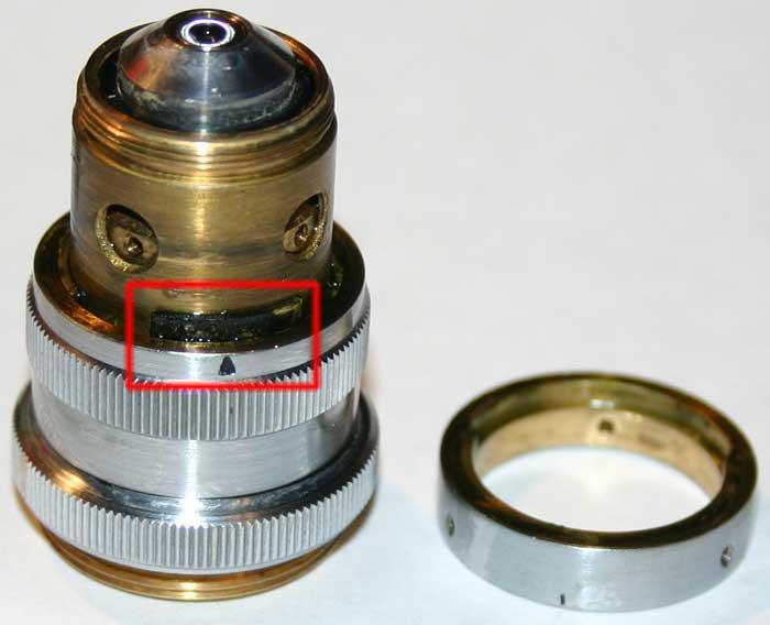 Repair of LOMO APO 40x0.95 microscope objective, remove limiter