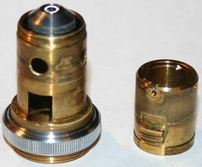 Repair of LOMO APO 40x0.95 microscope objective, clean parts