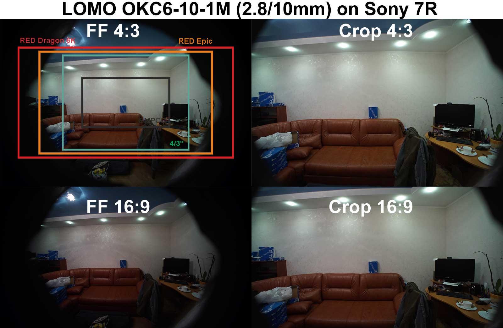 Coverage of LOMO OKC6-10-1M lens on Sony 7R camera
