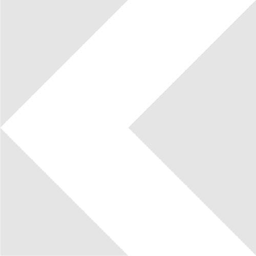 Адаптер объектива М26х0.7 (36tpi для Mitutoyo) на резьбу М25х0.75, черный, вид сзади