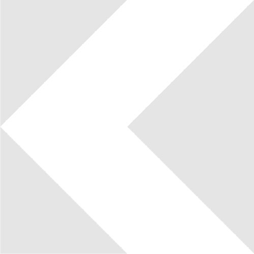 RMS female to M25x0.75 male thread microscope adapter, 15mm, black