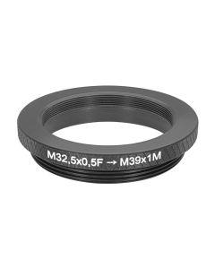 M32.5x0.5 to M39x1 (LTM) thread adapter