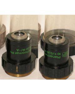 Zeiss microscope objective - Planachromat 10x0.20